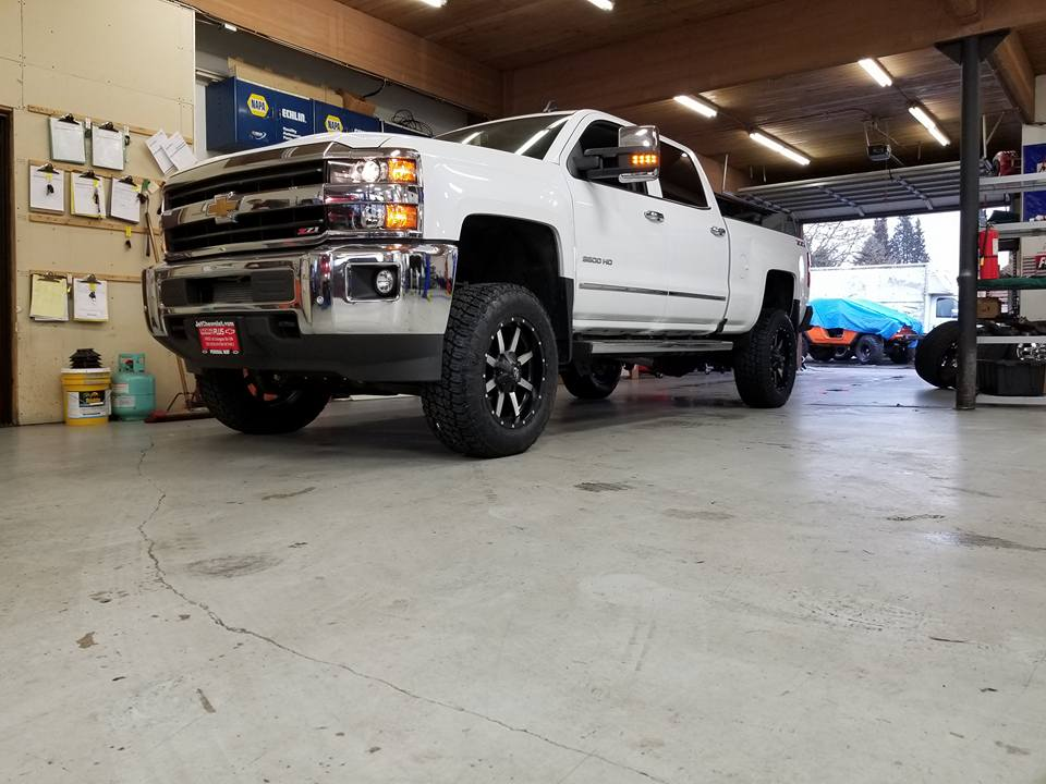 6-inch lift kit on a 2018 Chevy 1 Ton