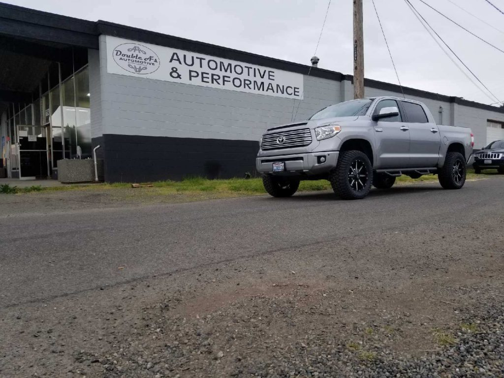 Before and After Pictures of a 2018 Toyota Tundra 4″ Lift Kit